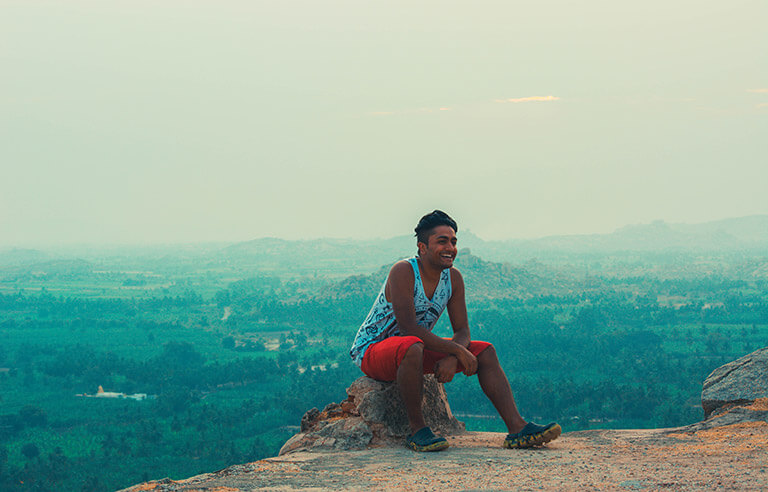 Smiling on Top of Mathanga Hills