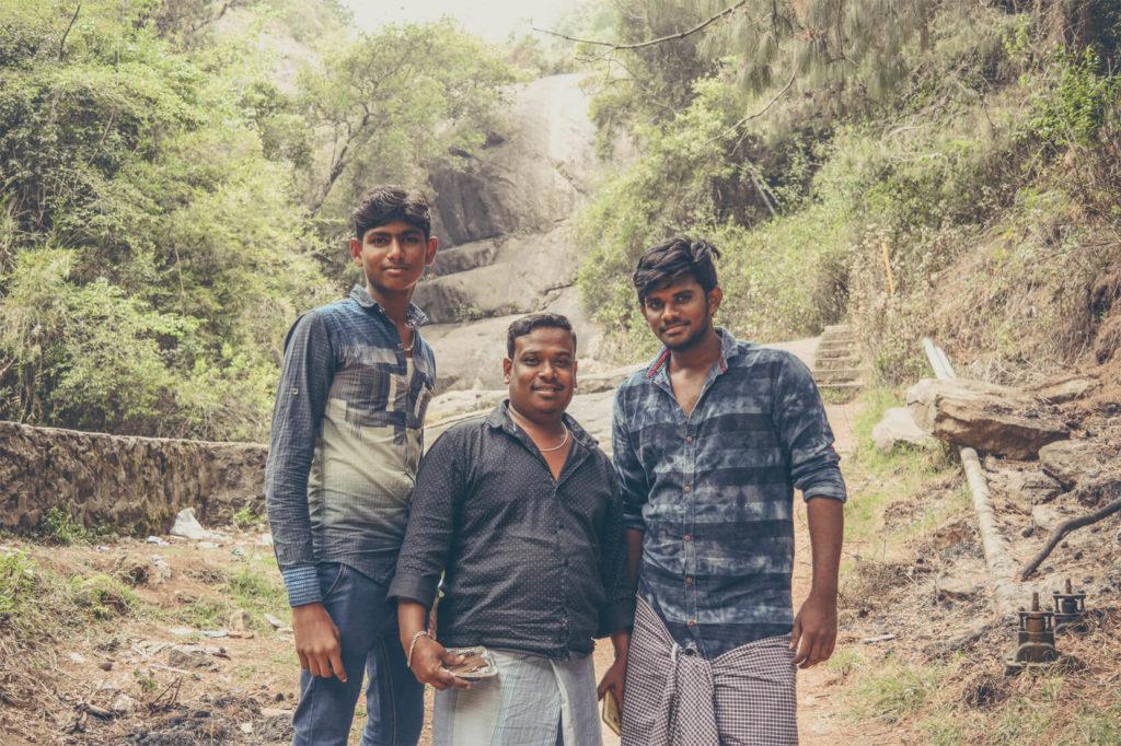 The Curious Group at Bear Shola Falls Kodaikanal