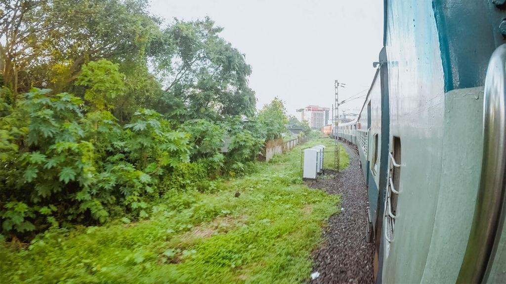 Train From Kollam to Varkala